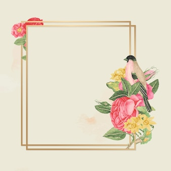 Floral gold frame, remixed from the 18th-century artworks from the smithsonian archive.