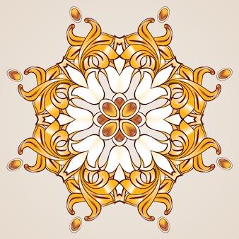Floral gold ornament
