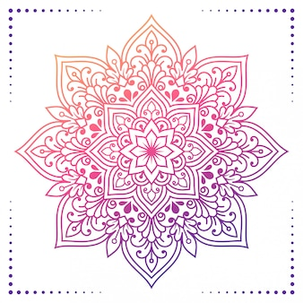 Floral gradient mandala 2