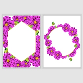 Floral greeting card decoration collection