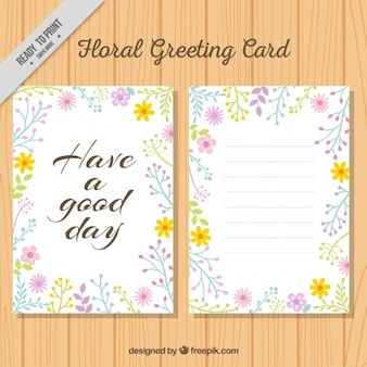 素敵な引用と花のグリーティングカード