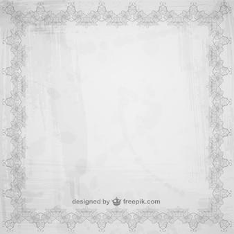 Floral grey frame