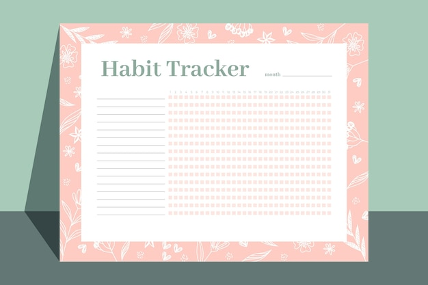 Floral habit tracker template
