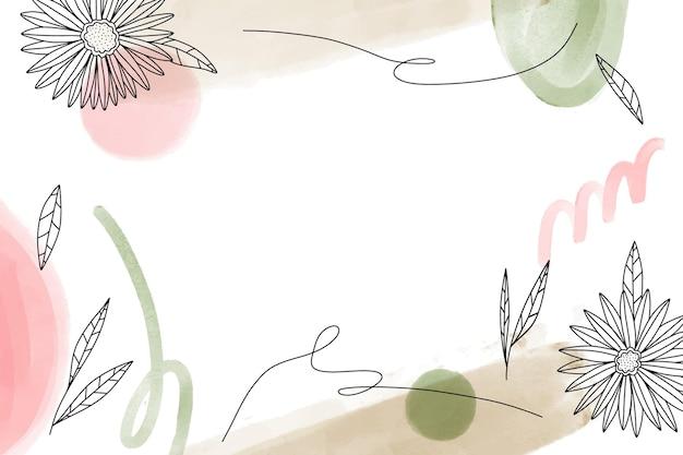 花の手描きの背景