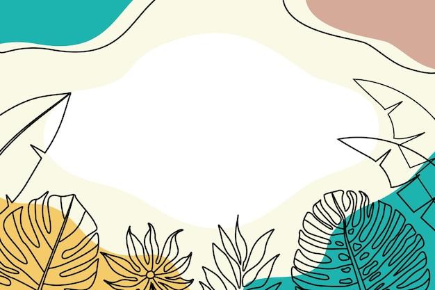 Цветочные рисованной для увеличения фона