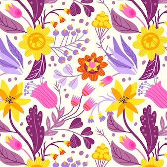 Motivo floreale in tessuto dipinto a mano