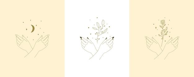 Цветочные руки и ногти набор бохо