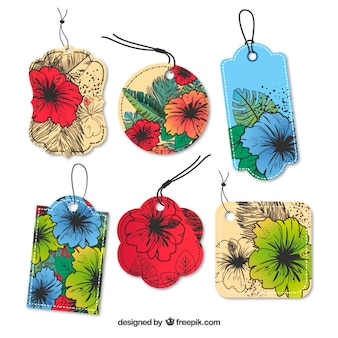 Floral hanging tags