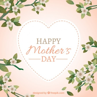 Floral happy mother's day background