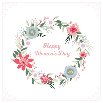 Floral happy women's day wreath