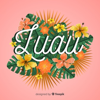 Floral hawaiian luau background
