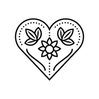 花のハートの花