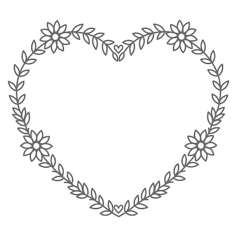 Floral   heart illustration for valentine's day and decoration