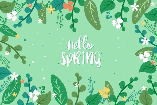 꽃 안녕하세요 봄 개념