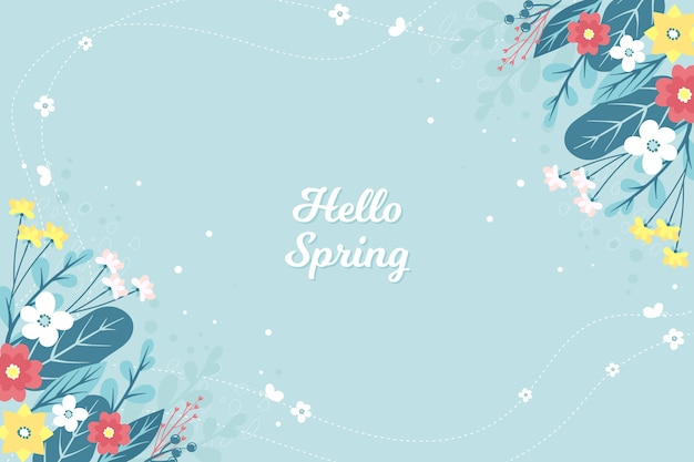 Floral hello spring concept