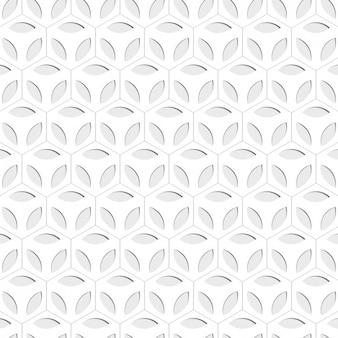 Floral hexagon background