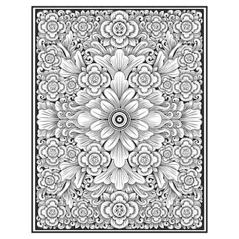 Floral illustration hand drawing