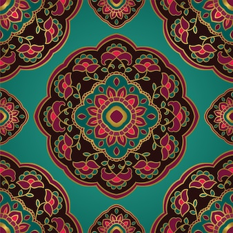 Floral indian pattern with mandala.