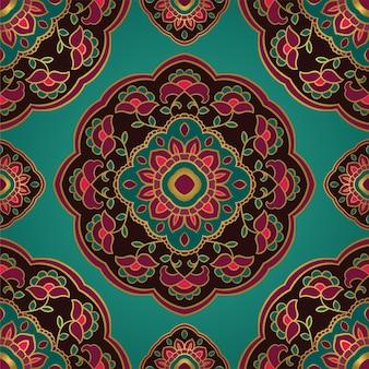 만다라와 꽃 인도 패턴입니다.