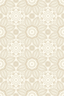 Floral indian seamless pattern with flower and leaf ornament