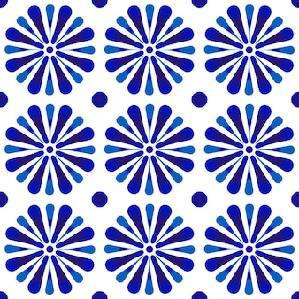 Floral indigo ornament backdrop, blue and white ceramic tile decor, cute porcelain seamless, beautiful pattern for design, ceiling, texture, wall, paper and fabric
