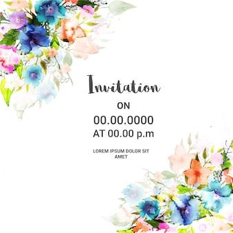 Цветочный дизайн пригласительной карточки.