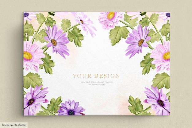 花の招待カードセット