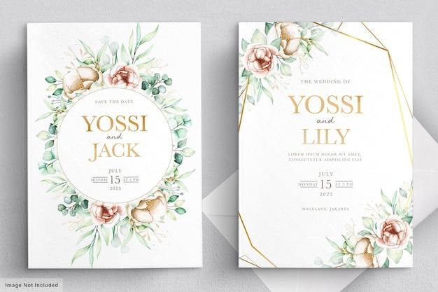 꽃 초대 카드 세트