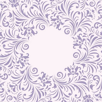 Floral invitation card on white background.