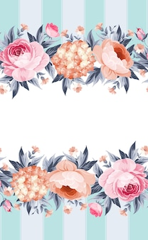 花の招待カード。