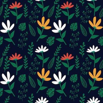 Floral leaf seamless pattern
