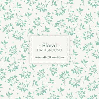 Floral leaf silhouette background