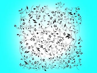 Floral leaves pattern vector background
