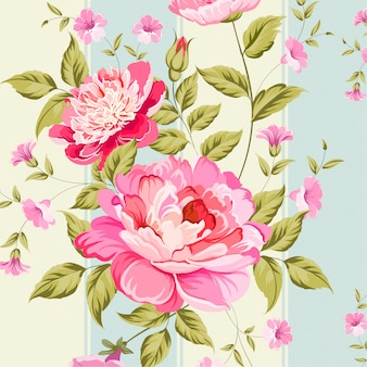 Floral leaves seamless pattern background