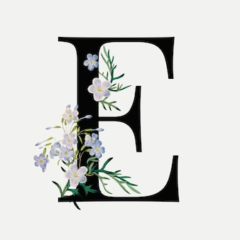 Lettera floreale e