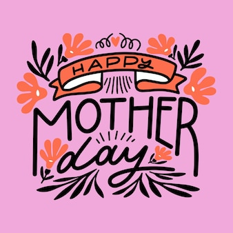 Floral lettering for mother's day