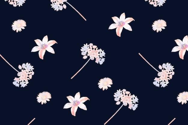 花のユリのシームレスなパターン
