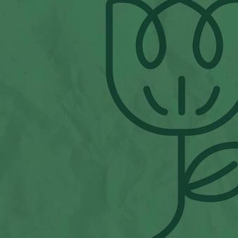 花のラインの緑の背景