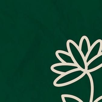Цветочные линии зеленый фон