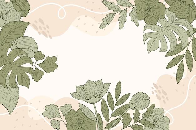 花の線形デザインの背景