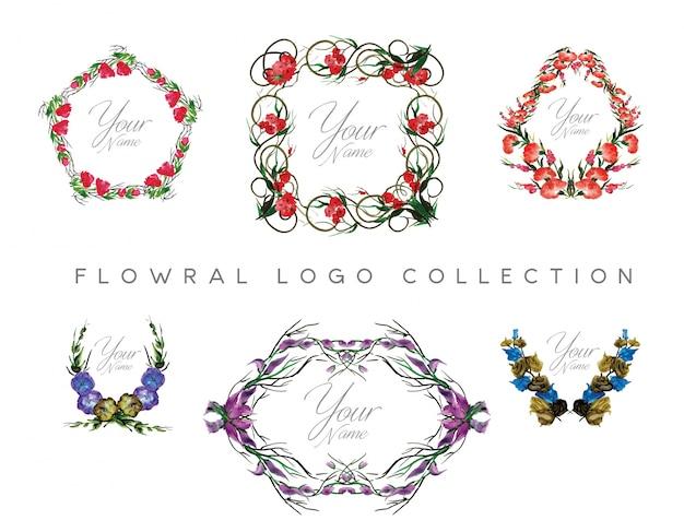 Floral logo design collection