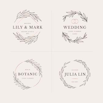 Floral logo design templates collection
