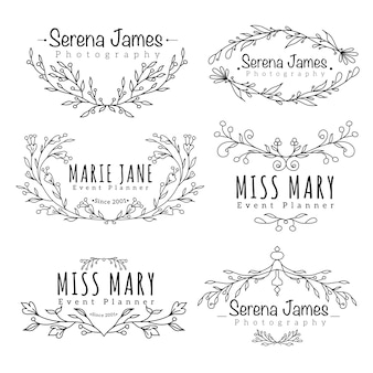 Floral logotype for wedding photography collection