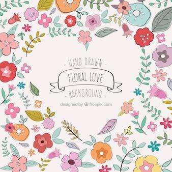Floral love background