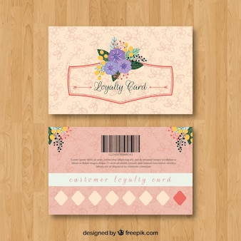 Gift card vectors photos and psd files free download floral loyalty card template colourmoves