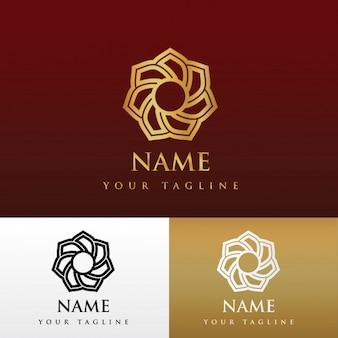 花の高級ロゴデザイン
