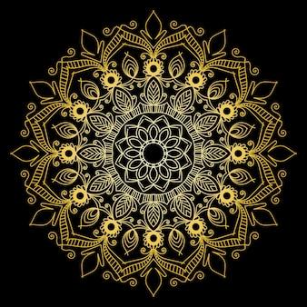 花曼荼羅背景デザイン無料ベクトル