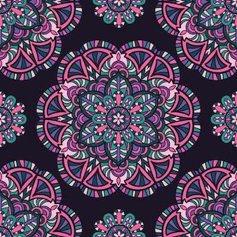 Floral mandala background