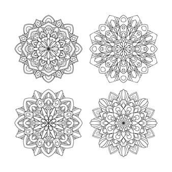 Floral mandala design set