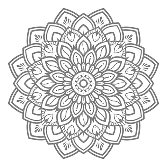 Floral mandala illustration for decorative concept